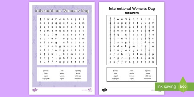 * New * Lks2 International Women's Day Word Search Activity