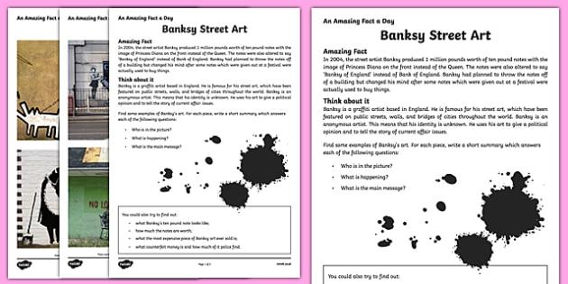 Banksy Street Art Worksheets