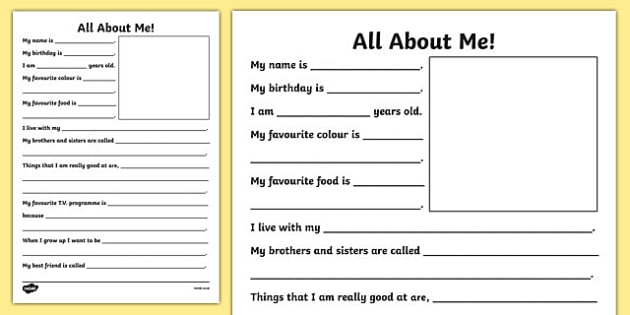New Teacher All About Me Writing Frame New Teacher About Me