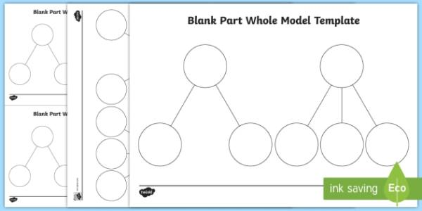 Part Whole Blank Model Template shanghai maths singapore