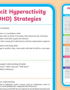 Adhd support strategies display poster sen attention deficit hyperactivity disorder advice techniques also rh twinkl