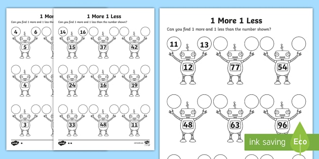 Worksheets Less One