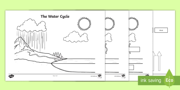 water cycle diagram blank 2002 honda civic wiring the cylce labelling worksheet