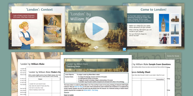 London by William Blake: GCSE Poetry Lesson Pack