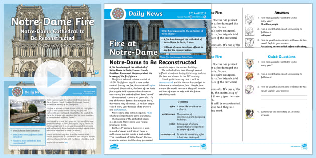 * New * Lks2 Notredame Daily News Resource Pack