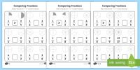 Comparing Fractions Activity Sheet - fractions, comparing