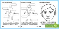 French Body Parts Labelling Worksheet - French, Body, Part