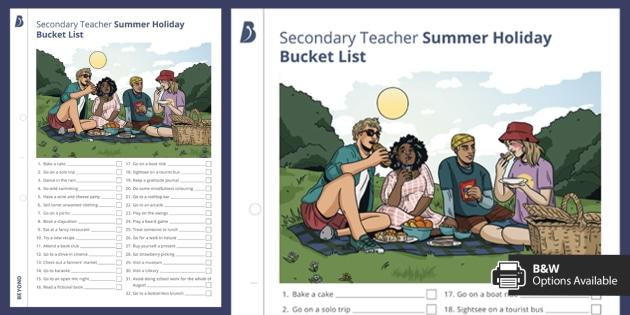 Teacher Summer Bucket List