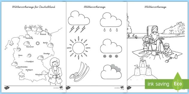 Ausmalbilder Wetter