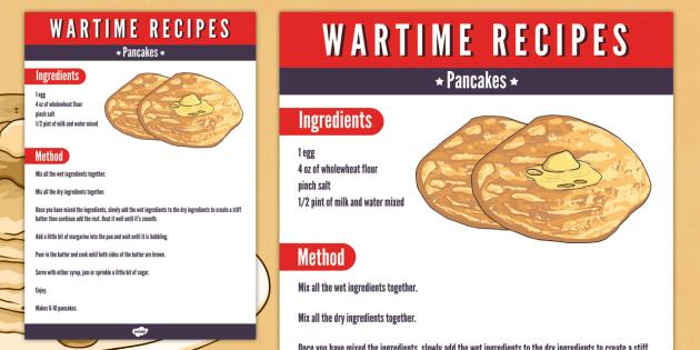World war 2 rationing recipes ks2 chekwiki wartime pancakes recipe food ration forumfinder Image collections