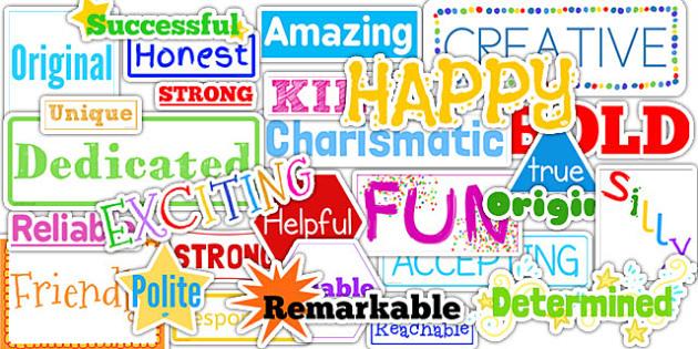 Inspirational Adjective Words - adjectives, words, inspirational