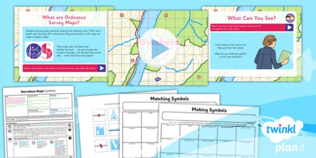 map symbols lesson plan