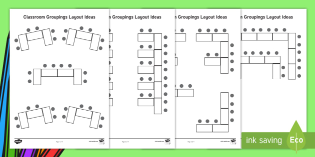 Classroom Groupings Layout Ideas