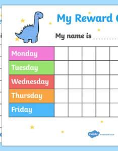My reward chart dinosaurs also rh twinkl