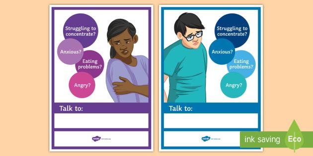 Mental Health A4 Display Poster  Help, Mental Health, Poster, Signposting