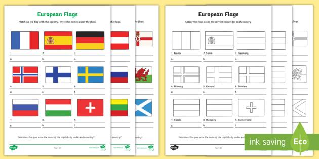 european flag worksheets europe