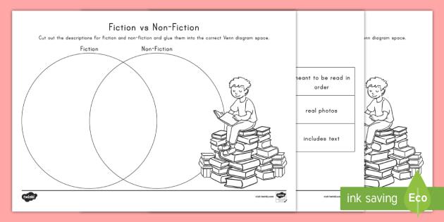 fiction vs nonfiction venn diagram 18 tender points of fibromyalgia non worksheet graphic organizer real