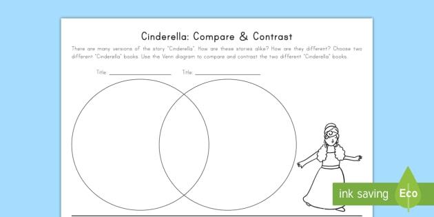 cinderella venn diagram compare contrast 2009 kawasaki brute force 750 wiring cinderella: and worksheet / activity sheet