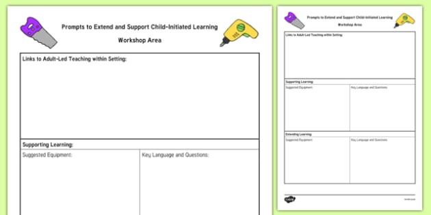 Workshop Area Adult Support Prompt Sheet Template - construction