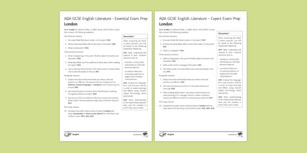 London by William Blake: AQA GCSE Poetry Exam Prep