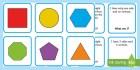 * NEW * 2D Shapes What Am I Description Matching Cards