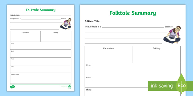 Folktale Summary Activity Fable Activity Resource Twinkl