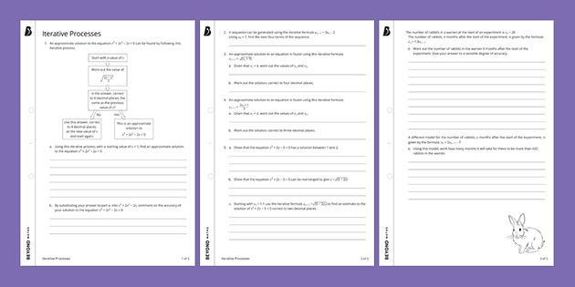 Iterative Processes Worksheet