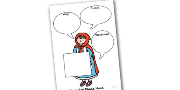 Little Red Riding Hood Role on the Wall Worksheets