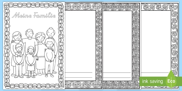 Mein Familienbuch Malvorlage (teacher made)