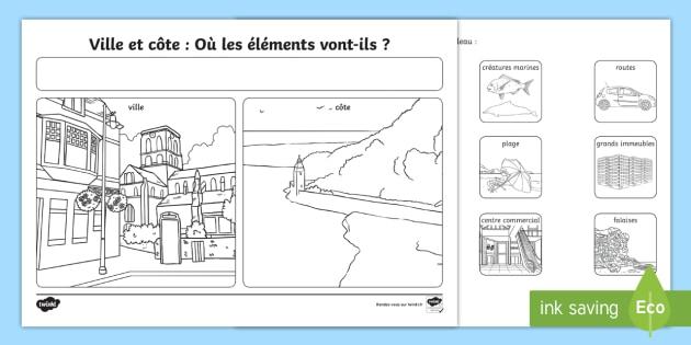 * New * Fiche D'activités  Ville Ou Côte