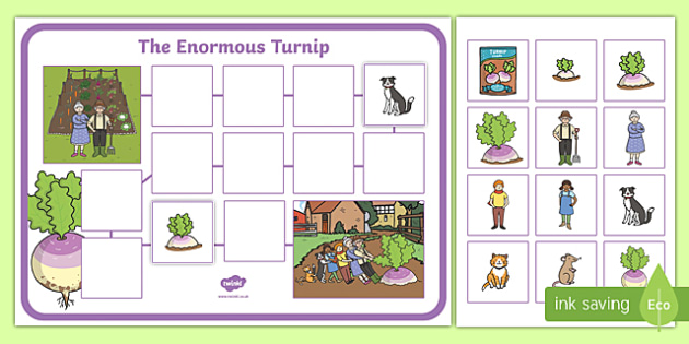 The Enormous Turnip Story Map Sheets Teacher Made