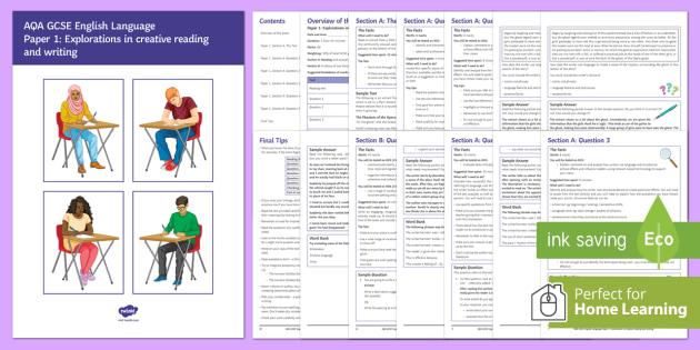 AQA English Language Paper 1 Exam Revision Booklet