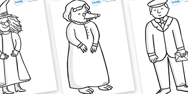 Story Colouring Sheets to Support Teaching on The Jolly