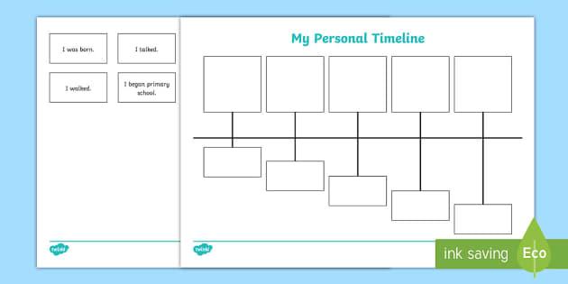 My Personal Timeline Worksheet Worksheet Teacher Made