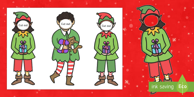 Make Yourself An Elf Face And Body Template Elf Santa