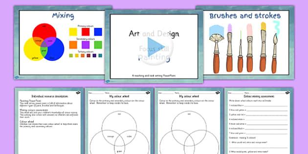 Ks2 Art Painting Lesson Teaching Pack Teacher Made