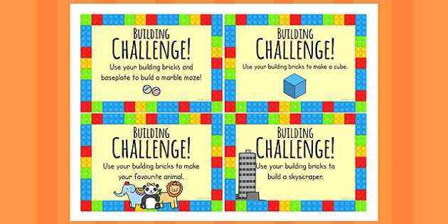 Building Bricks Challenge Cards Challenge Challenge Cards