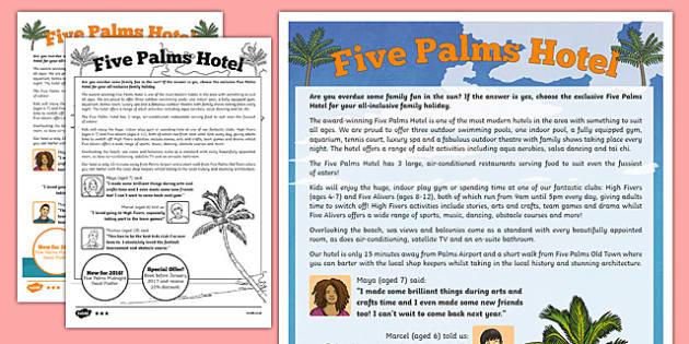 Persuasive Hotel Advertisement Writing Sample