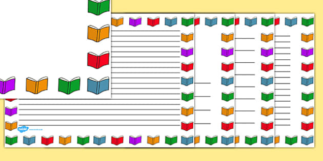Books Page Borders Landscape Books Page Borders Landscape