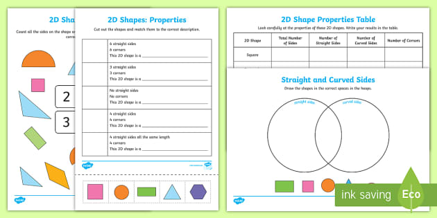 venn diagram sorting shapes lung sounds properties of 2d worksheet / activity sheets - 2d, shapes,