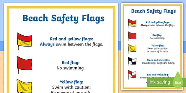 Beach Safety A4 Display Poster Surf Life Saving