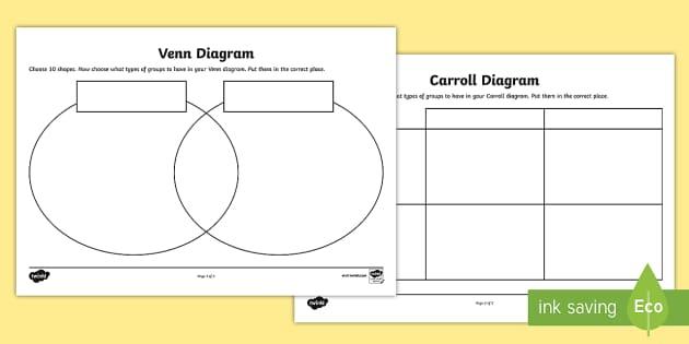 sorting shapes venn diagram worksheet 3 phase submersible pump control box wiring carroll and worksheets -