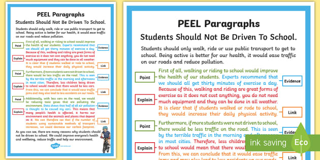Peel Paragraph Example Display Poster Teacher Made