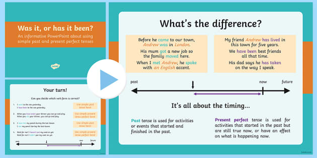 Using the Present Perfect Form of Verbs in Contrast to Past