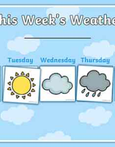 Weekly weather recording chart calendar also rh twinkl