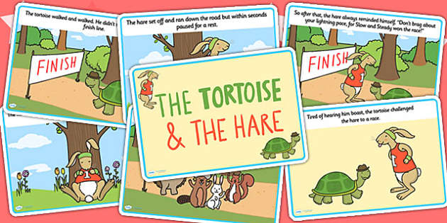 The Tortoise And The Hare Story Cards