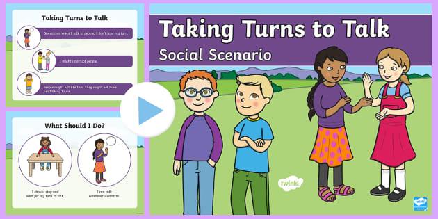 Taking Turns to Talk Social Scenario PowerPoint