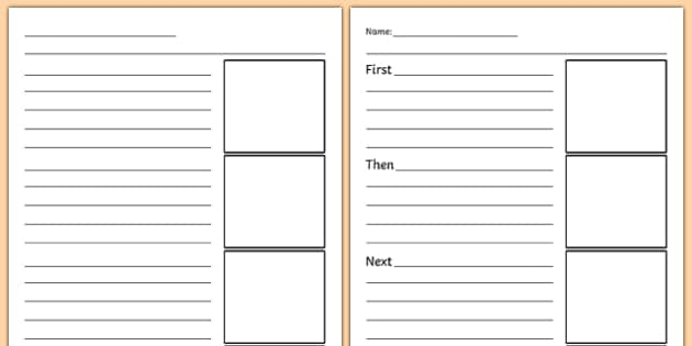 Sequencing Graphic Organizers Recount Writing Frames