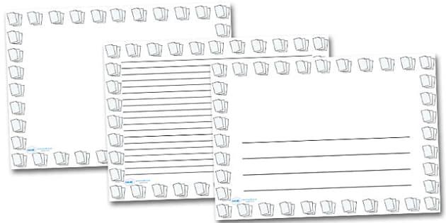 Lined Paper Landscape Page Borders- Landscape Page Borders