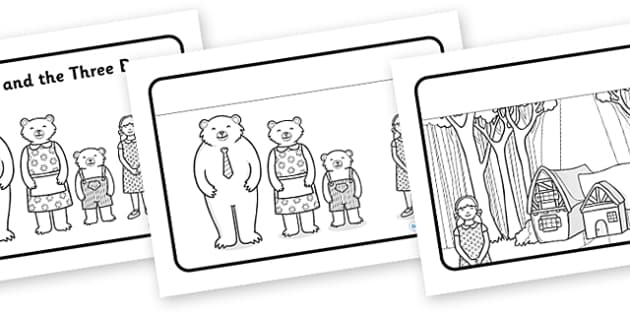 Goldilocks and the Three Bears Sequencing (Speech Bubbles)